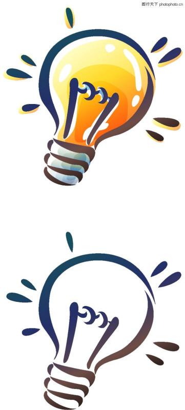 电灯泡彩色简笔画卡通电灯泡简笔画简笔画电灯泡怎么画电灯泡简笔画